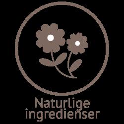 Illustrasjon med naturlige ingredienser i plantebasert såpe