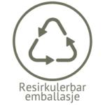 Illustrasjon resirkulerbar emballasje